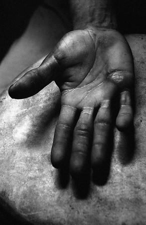 A drummer's hand