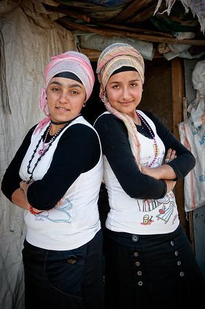Two cousins, Ayazma slum, Istanbul, August 2008.