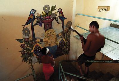 Ominidi - Yemanja painting