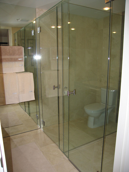 Seamless glass for Toilet and Shower