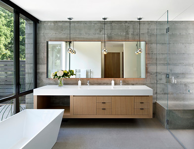 Master Bathroom, Atherton CA. Arcanum Architecture, Behrens- Curry Homes