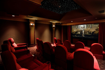 Private Residence, Los Altos Hills, CA. Home Theater. Mary & Brent Gullixson.
