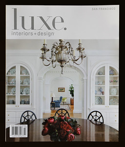 Cover of Luxe Magazine. Atherton CA