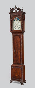 Neoclassical carved clock