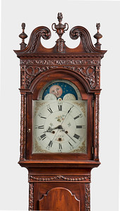 Neoclassical carved tall case clock