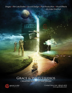 Promotional poster created for Grace & Wild Studios.  It's a combination of photos I shot as well as CGI elements and stock photography.