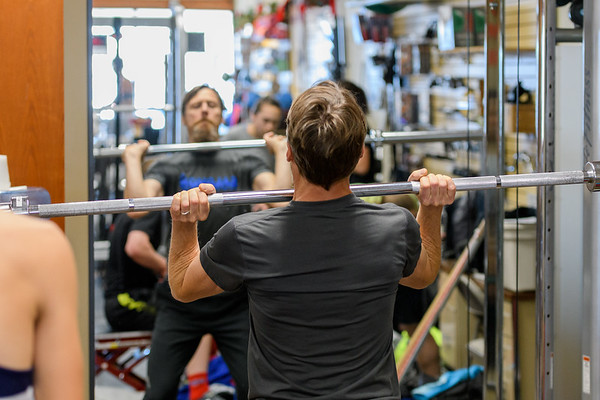 Todd works on his clean, Catalyst Workout Dec 18