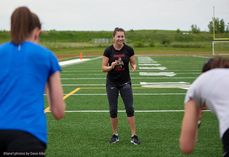 Coach Sarah Hopkins