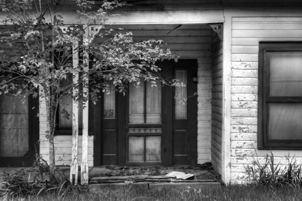 Abandoned Home, Entrance, Richards TX, 2009