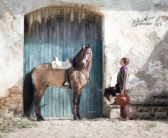 Clémence Faivre with Lusitano Stallion, Fuego FG, Jerez, Spain