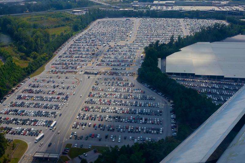 Birdseye view of Atlanta Parking Lot