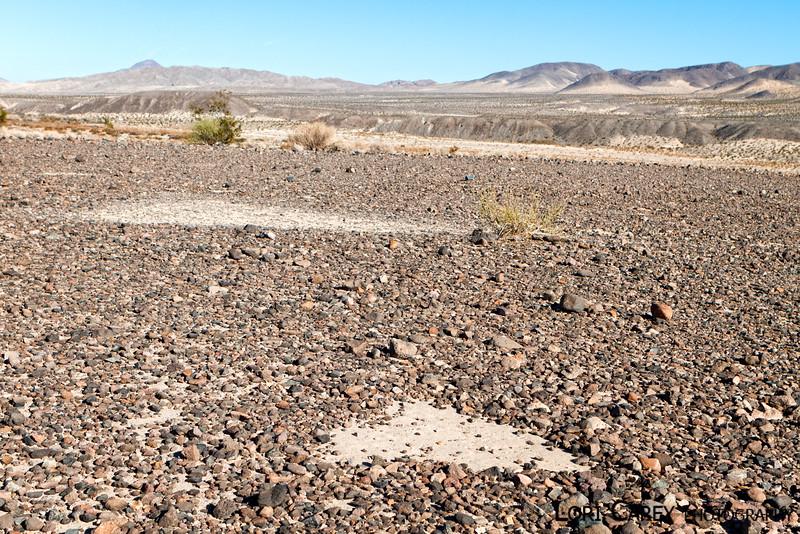 Triangles intaglio site in the Mojave desert