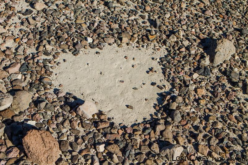 Triangle intaglio above Manix Wash, Mojave desert