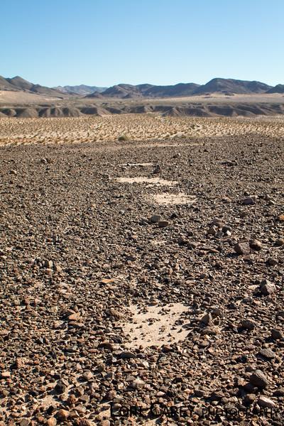 Triangle intaglios above Manix Wash, Mojave desert
