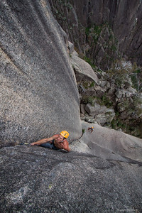 Ben Wiessner on  Backless, Mount Buffalo