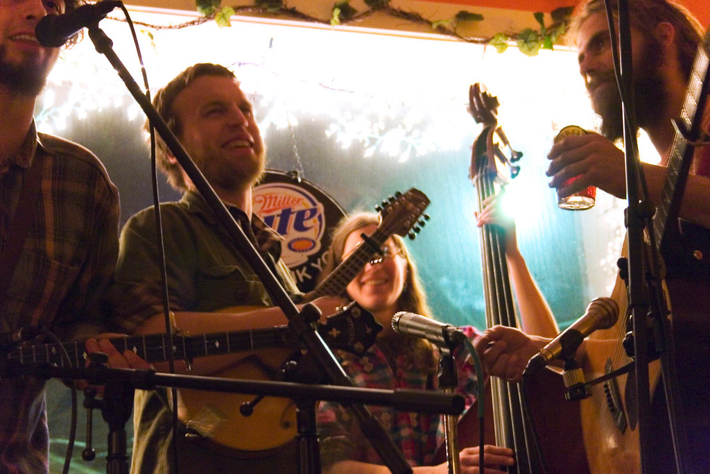 Mud City Ramblers playing at Bonz Smokehouse in Morrisville, Vermont.
