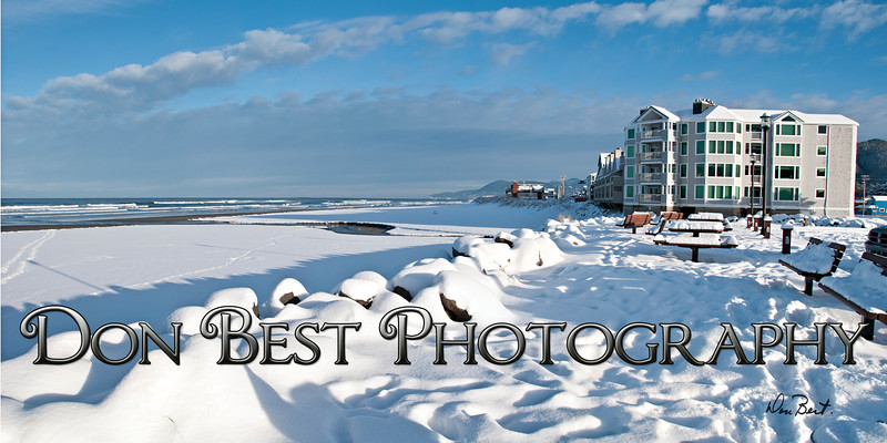 Rockaway Beach in Snow