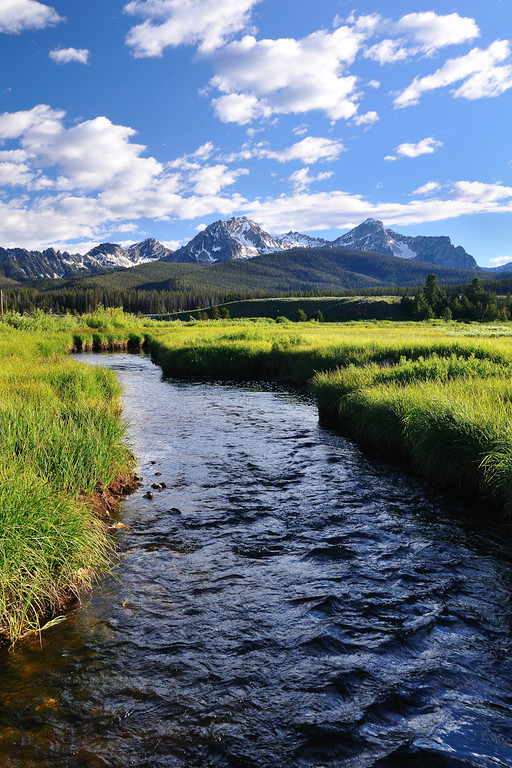 Stanley Creek and the Sawtooths Stanley, Idaho