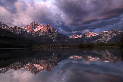 Sunrise at Stanley Lake Sawtooth Mountains, Idaho