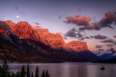 Sunrise at Lake St. Mary Glacier National Park
