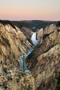 Lower Falls and Grand Canyon of the Yellowstone Yellowstone National Park