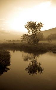 Sunrise Mist, Stowe VT