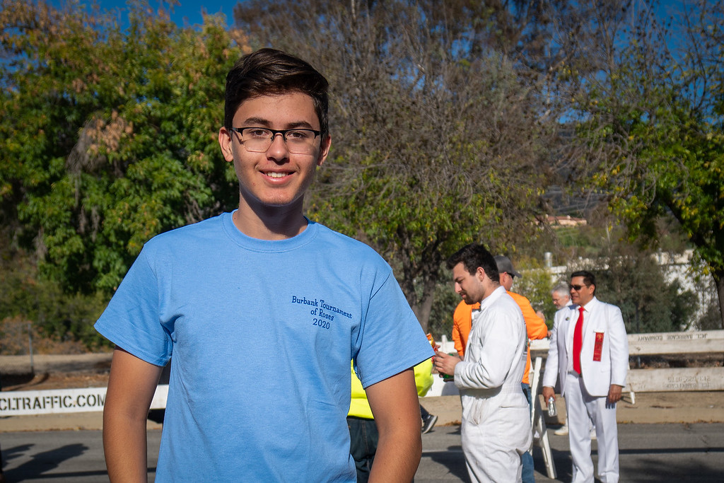 Young volunteer who did welding on the Burbank float