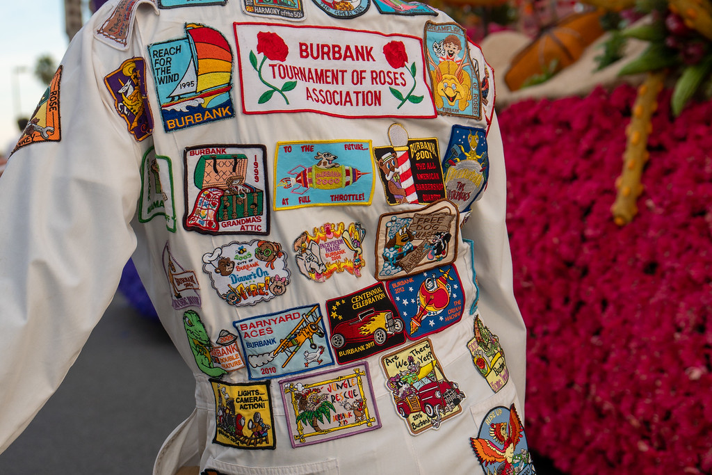 Patches from previous parades tell the tale