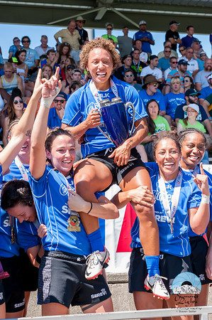Nia Williams of San Diego Surfers was awarded MVP of the  USA Rugby Emirates Airline Club 7s National Championship