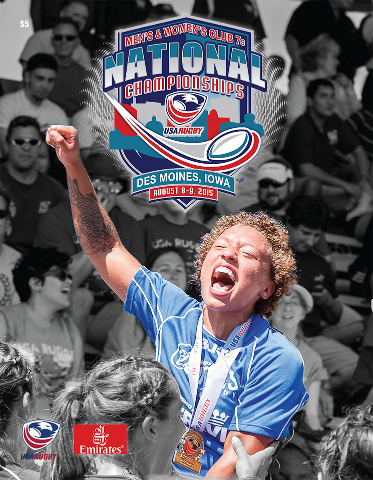 Cover Photograph of the 2015 USA Rugby Club 7s National Championship Program