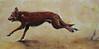 Brown Dog  15x30 Acrylic on Canvas 2006