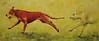 Orange Dog Yellow Dog, acrylic on canvas, 24x48