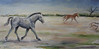 Kachina (running free) 18x36 Acrylic on Canvas, 2011<br /> Donated to Equine Voices Annual Fundraiser Arizona Inn