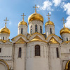 Exterior of the cathedral of the Annunciation, Kremlin, Moscow, Russia
