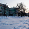WINTER PALACE IN THE SNOW. THE HERMITAGE. ST. PETERSBURG.