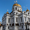 Exterior of the Cathedral of Christ the Saviour in Moscow, Russia, Europe