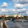 View the Kremlin and the River Moskva in Moscow, Russia