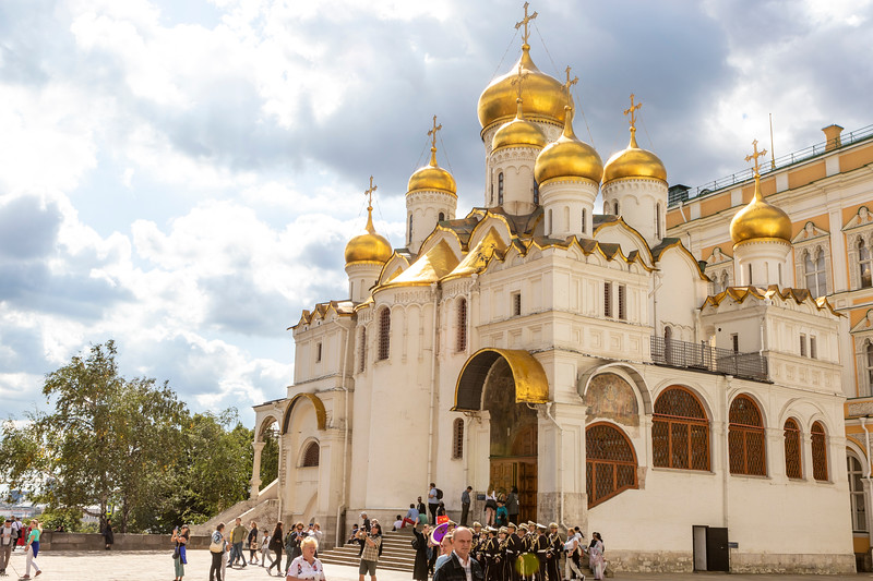 Cathedral of the Annunciation in the Kremlin, Moscow, Russia, Europe