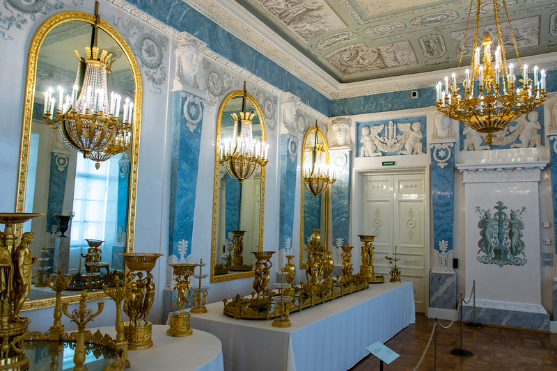 Interior of the General Staff Building (Hermitage) in St. Petersburg, Russia, Europe