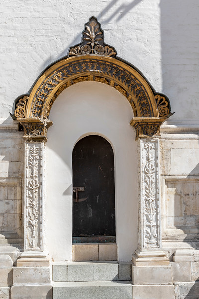 Entrance of the cathedral of the Archangel Michael, Kremlin, Moscow, Russia