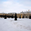 THE GRAND PALACE SEEN FROM THE UPPER GARDEN. PETERHOF. RUSSIA.