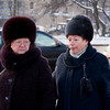 OLD RUSSIAN LADIES. HERMITAZHNY ROAD. ST. PETERSBURG. RUSSIA.
