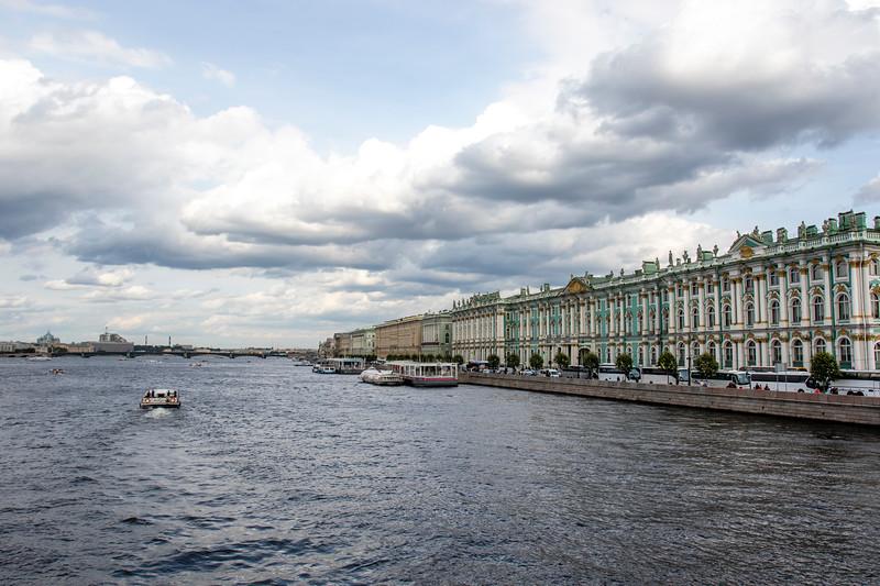 River Neva in Summertime, St Petersburg, Russia
