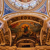 DECORATED CEILING AND DOME OF ST. ISAAC'S CATHEDRAL. ST. PETERSBURG. RUSSIA.