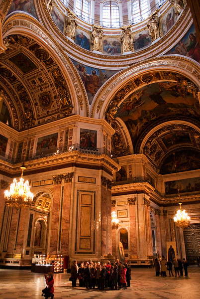 UNDER THE BIG DOME OF ST. ISAAC'S CATHEDRAL. ST. PETERSBURG. RUSSIA.