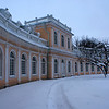 WINTER AT THE GRAND ORANGERIE. PETERHOF. RUSSIA.