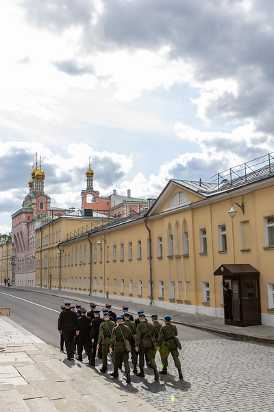 Soldiers/ guards, inside the Kremlin, Moscow, Russia