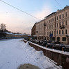 MOIKA RIVER SEEN FROM THE NEVSKY PROSPEKT. ST. PETERSBURG.