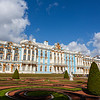 facade of Catherine's Palace in Tsarkoe Selo, Pushkin, St Petersburg, Russia