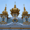 GOLDEN ROOFS. GRAND PALACE. PETERHOF. RUSSIA.